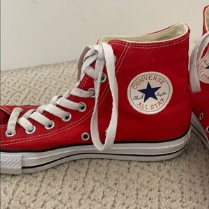 Cherry Red High-top Converse